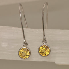 handmade yellow sapphire earrings
