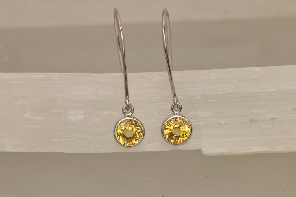 products niki black and ulehla stud yellow sapphire crystal garnet earrings studs