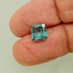 Blue Green Sapphire Over 2 Carats  Loose Faceted Natural Gemstone for Engagement Ring