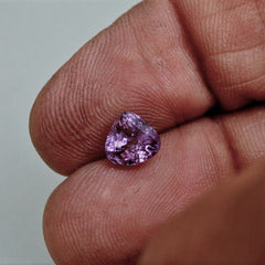 Violet Colored Sapphire 7mm Triangle Shape