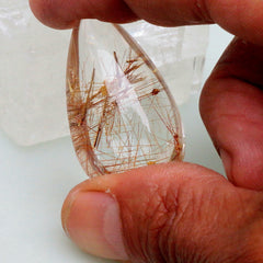 Rutilated Quartz  83.31 Carats Collector Gemstone Rutile Needles Oval Shape