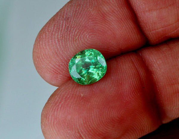natural green garnet cushion