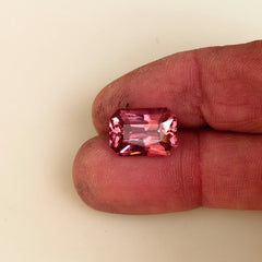 RESERVED Pink Tourmaline Radiant Cut Over 7 Carats October Birthstone for Custom Jewelry or Pendant