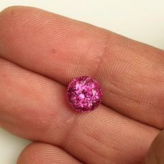 Pink Tourmaline Portuguese Cut October Birthstone for Custom Engagement Ring or Fine Jewelry