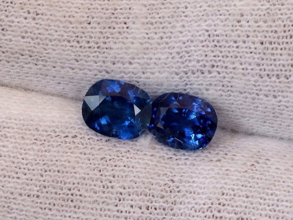 Cushion Blue Sapphire Pair 1.85cts Total Weight