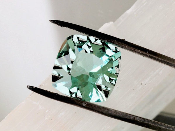 Paraiba Color Tourmaline 13mm Square Cushion