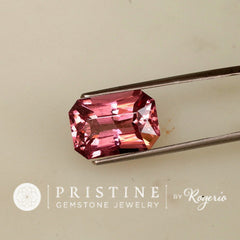 Pink Tourmaline Radiant Cut Over 7 Carats October Birthstone for Custom Jewelry or Pendant