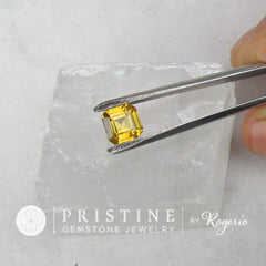 loose natural yellow sapphire