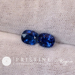 Ceylon blue sapphire for earrings