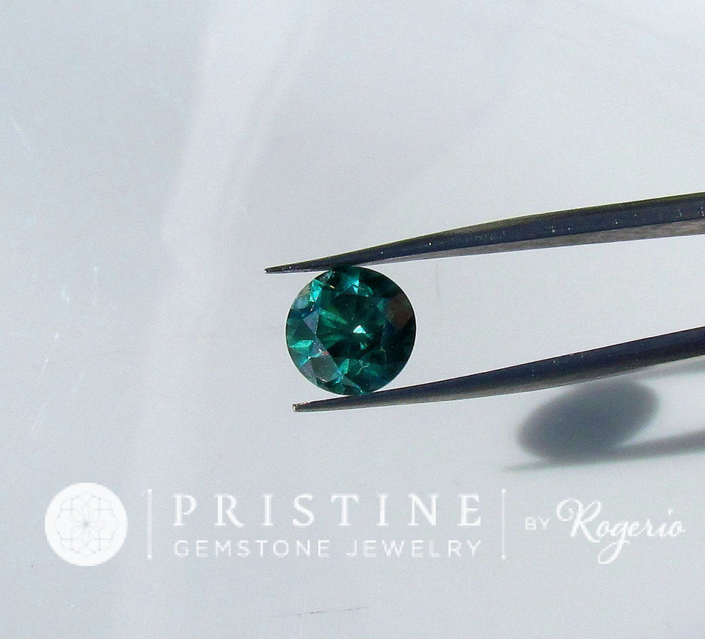 Blue Green Diamond Brilliant Cut Round Over 1 Carat Engagement Ring  Fine Jewelry April Birthstone