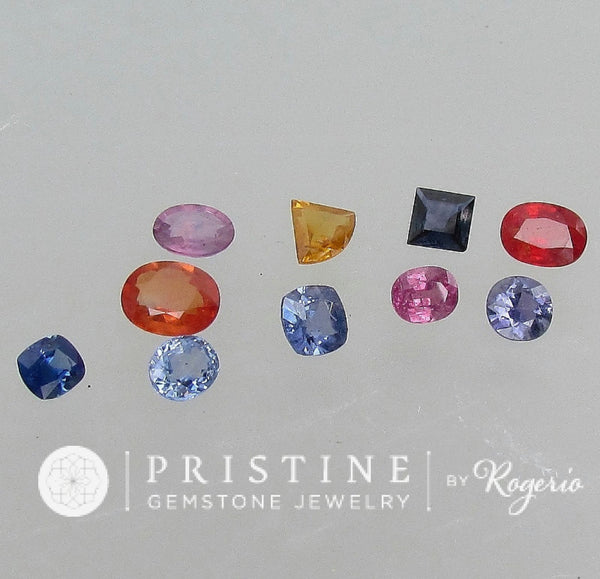 Sapphire Lot 13.28 Cts tw Various Shape Loose Gemstones Pink Blue Yellow Sapphire September Birthstone for Gemstone Jewelry