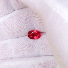oval shape ruby for jewelry