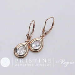 white sapphire dangle earrings