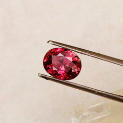 Raspberry Color Sapphire Over 2 Carats Oval Shape for Fine Gemstone Jewelry Engagement Ring Weddings