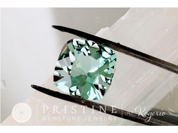 Paraiba Color Square Cushion Tourmaline Loose Gemstone for Jewelry