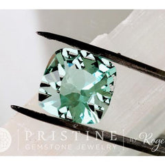 Cushion Paraiba Type Tourmaline October Birthstone