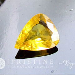 pear shape yellow sapphire
