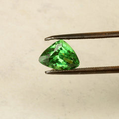 green garnet triangle shape