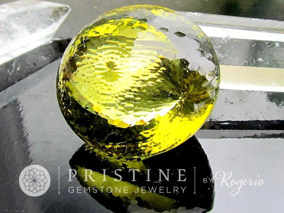 Millenium Cut Citrine 1000 Facets Collector Piece November Birthstone by Rogerio Graca