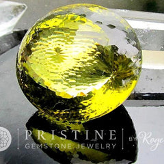 precision cut citrine round shape