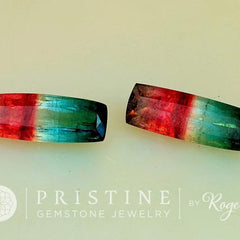RESERVED Watermelon Bicolor Tourmaline Pair for Earrings Total Weight over 20 Carats October Birthstone
