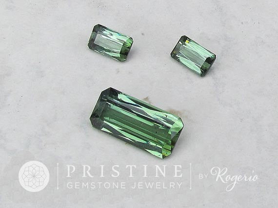 Green Tourmaline Set Paraiba Type for Pendant and Earrings Indicolite tourmaline