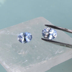 Ceylon light blue sapphires matching pair