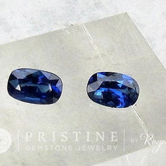 cushion shape blue sapphires