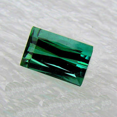Indicolite Tourmaline Rectangle Shape 4.11 Carats October Birthstone