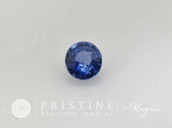 Blue Sapphire Round Shape Loose Faceted Gemstone for Engagement Ring