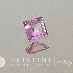 Princess Cut Pink Sapphire 4.4 x 4.3 MM September Birthstone
