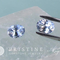 light blue sapphire for earrings