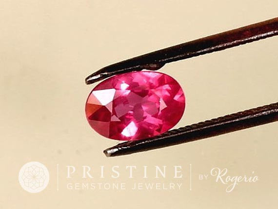 Natural Pink Ruby for Engagement Ring or Wedding Anniversary