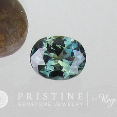 Blue Green Sapphire Oval Shape Loose Faceted Gemstone over 3 Carats for Custom Sapphire Engagement Ring September Birthstone