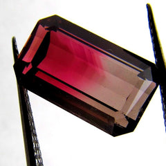 loose bicolor tourmaline October Birthstone