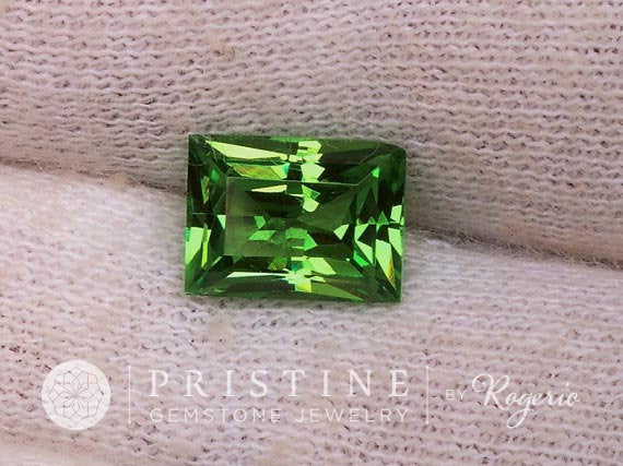 Tsavorite Garnet Radiant Cut Over 2 Carats January Birthstone