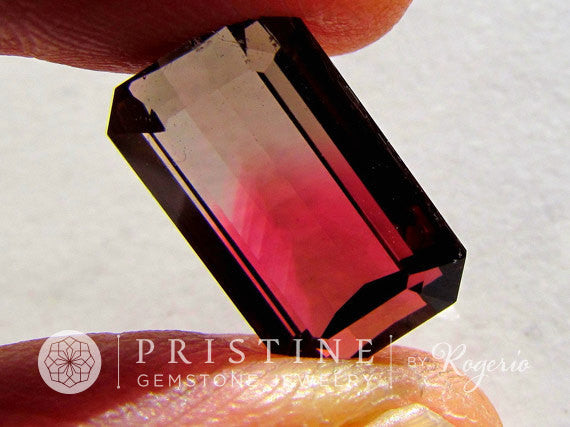 Bicolor Tourmaline Emerald Cut October Birthstone Over 10 CTS Loose Gemstone