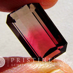 Bicolor tourmaline October Birthstone for Jewelry Emerald Cut Shape
