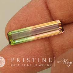 Bicolor Watermelon Tourmaline Emerald Cut 9.69 Carats Rare Large Fine Quality Loose Gemstone October Birthstone for Fine Custom Pendant