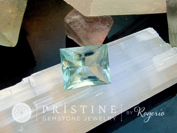 Aquamarine Large Square 7.90 cts Loose Gemstone March Birthstone Gemstone for Jewelry Pendant