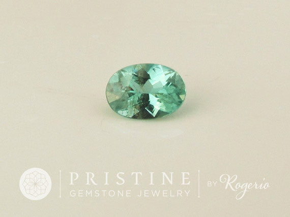 Paraiba Color Tourmaline Oval Shape Loose Faceted Gemstone for Fine Custom Gemstone Jewelry October Birthstone