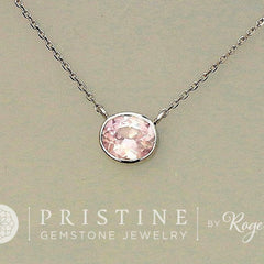 pink champagne sapphire necklace