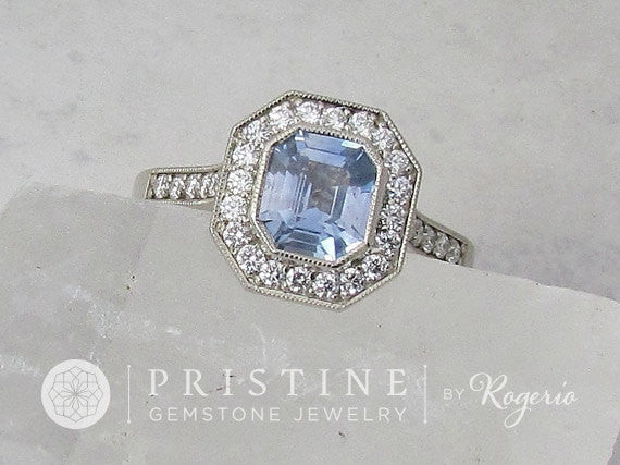 Vintage Inspired Engagement Ring Semi Mount  Main Stone Sold Separately  Wedding Ring Mount