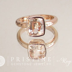Solitaire Bezel Set Ring Mount Main Stone Sold Separately Available in Rose Gold White Gold or Yellow Gold