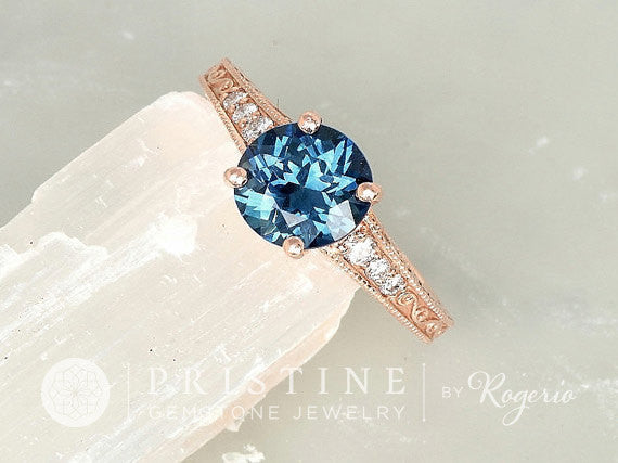 Custom Vintage Style Gemstone Engagement Ring Semi Mount