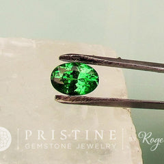 Tsavorite Green Garnet for Engagement Ring Oval Shape Loose Gemstone January Birthstone for Fine Gemstone Jewelry