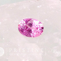 Natural Pink Sapphire Precision Cut Oval Shape for Jewelry