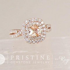 double diamond halo infinity ring