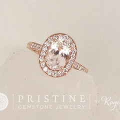 rose gold vintage style engagement