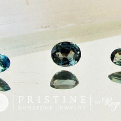Blue Green Sapphire Oval Shape Set Loose Faceted Gemstone for Engagement Ring September Birthstone